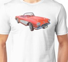 Red And White 1958 Corvette Unisex T-Shirt
