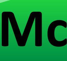 Moscovium or Element 115 Periodic Table Symbol Sticker