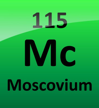 Moscovium or Element 115 Periodic Table Symbol Sticker