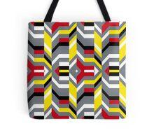 Colorful op art pattern Tote Bag