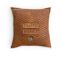 Traffic Signals in Rust Throw Pillow