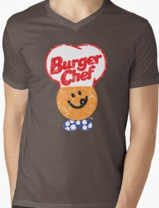 Burger Chef Mens V-Neck T-Shirt