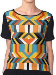 Colorful op art pattern Chiffon Top