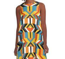 Colorful op art pattern A-Line Dress