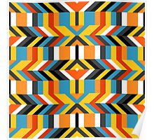 Colorful op art pattern Poster