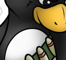 Commando Penguin Sticker