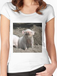 Piglet20150902 Women's Fitted Scoop T-Shirt