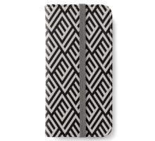 Monochrome maze pattern iPhone Wallet/Case/Skin