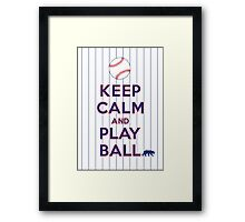 Keep Calm and Play Ball - Chicago (National) Framed Print