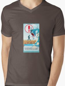 Beware your surroundings! Mens V-Neck T-Shirt