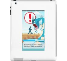 Beware your surroundings! iPad Case/Skin