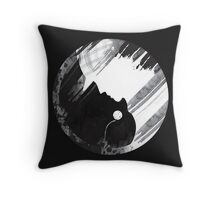 When Two Worlds Collide Throw Pillow