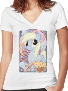 Derpy! Women's Fitted V-Neck T-Shirt