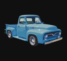 Classic 1955 F100 Ford Pickup Truck One Piece - Short Sleeve