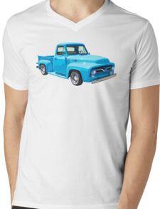 Classic 1955 F100 Ford Pickup Truck Mens V-Neck T-Shirt