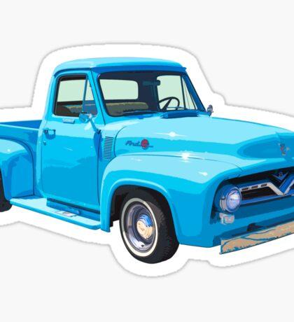 Classic 1955 F100 Ford Pickup Truck Sticker