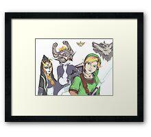 Zelda: Twilight Princess Fan Art Framed Print