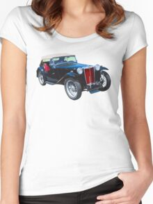 Black Mg Tc Antique Car Women's Fitted Scoop T-Shirt