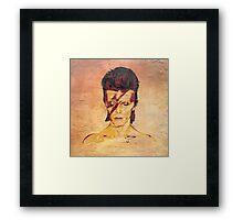 Aladdin Sane 'Rock Art' Album Cover Framed Print