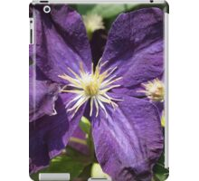 Purple Clematis from A Gardener's Notebook iPad Case/Skin