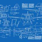BF-109 Concept Blueprints by DarkHorseDesign