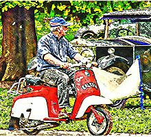 Motorcycle ride Photographic Print