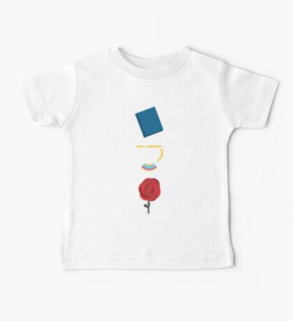 Books, Cups, and Roses Baby Tee