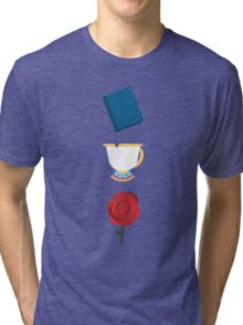 Books, Cups, and Roses Tri-blend T-Shirt