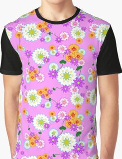 Full Floral Pink Graphic T-Shirt