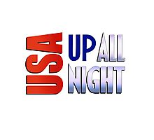 USA Up All Night Photographic Print