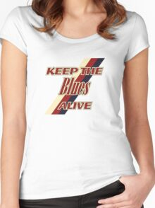 Keep the blues alive Women's Fitted Scoop T-Shirt