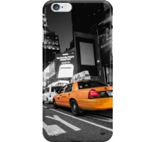 Manhattan nite taxi  iPhone Case/Skin