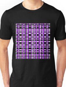 Plaid in Purple, Black & Gray Unisex T-Shirt