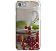 Still life with wild cherries iPhone Case/Skin