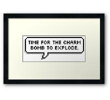 Charm Bomb Framed Print