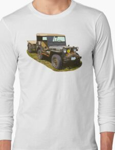 Willys World War Two Army Jeep Long Sleeve T-Shirt