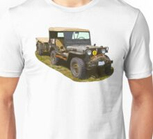 Willys World War Two Army Jeep Unisex T-Shirt