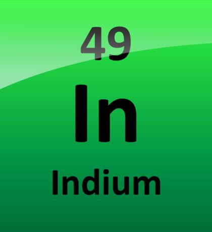 Indium Periodic Table Element Symbol Sticker