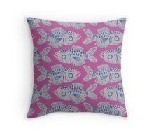 Fish Print - Mauve Throw Pillow