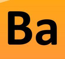 Barium Periodic Table Element Symbol Sticker