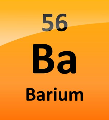 Barium Periodic Table Element Symbol Sticker