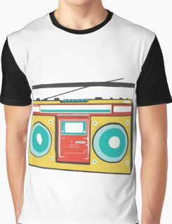 colorful boombox Graphic T-Shirt