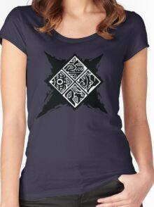 Monster Hunter Generations/Cross Logo Women's Fitted Scoop T-Shirt