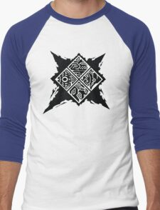 Monster Hunter Generations/Cross Logo Men's Baseball ¾ T-Shirt