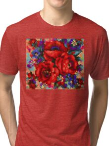 Tuscan Poppies Tri-blend T-Shirt
