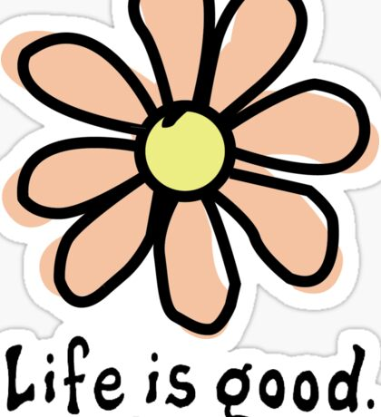 Life is Good Peach Flower Sticker