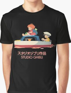 Ponyo: Drift Away Graphic T-Shirt