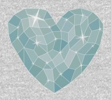 Frozen heart in Abstract triangles - polygons style Kids Clothes
