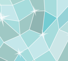 Frozen heart in Abstract triangles - polygons style Sticker