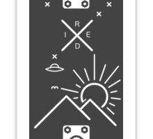 Skateboard à sensations Sticker